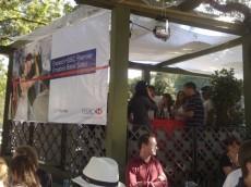 """""""Camarote"""" do HSBC na praça Espanha durante o show de Hermeto Pascoal e a Orquestra Sinfônica do Paraná (Virada Cultura de Curitiba)"""