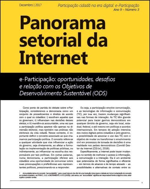 Ano IX – Nº 3 – Participação cidadã na era digital: e-Participação [Panorama Setorial da Internet CETIC.br]