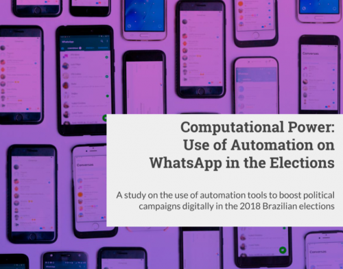 Computational Power: Automated Use of WhatsApp in the Elections